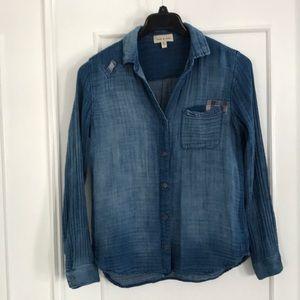 🌦☁️Anthropologie , cloth&stone shirt size S
